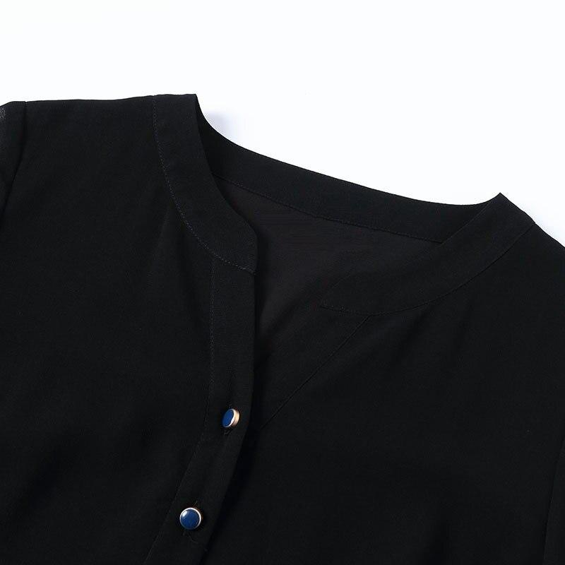 De Marque Plus Robe Manches Taille Longueur Noir Luxe Broderie 3 Femmes Genou Floral Chinois Style Élégant La 4 Nouvelle Solide Femme Parti w5CnIfqdw
