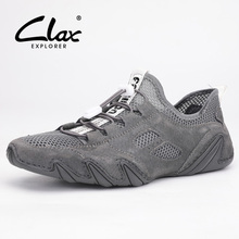CLAX Man Shoes Fashion 2019 Summer Mens Leather Shoe Breathable Casual Male Walking Footwear Soft