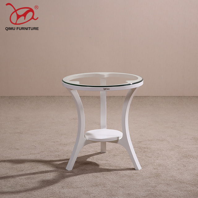 Round Minimalist Modern Wooden End Table Suitable For The Living Room Solid Wood Tea Antique