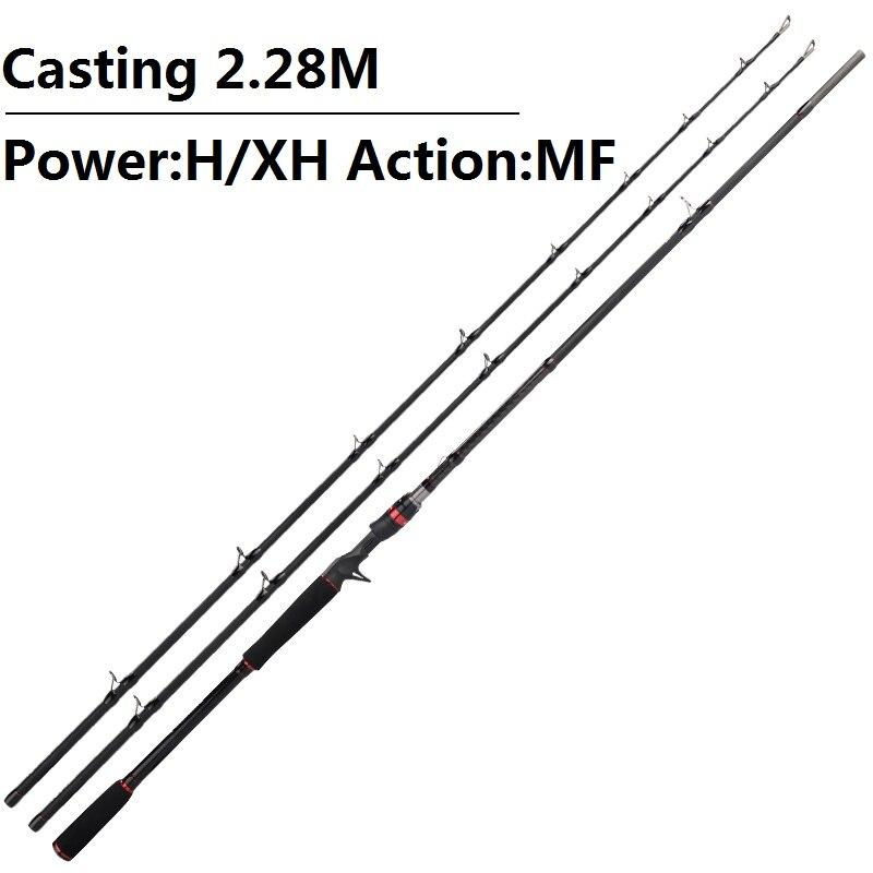 KastKing Maxsteel carbone filature Canne à pêche main matériel de pêche Leurre tige de coulée Canne Spinnng Leurre filature pêche