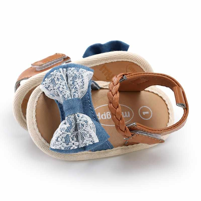 da6f92f26 ... Summer Girls Sandals Newborn Baby Shoes Cute Beach Baby Girl Sandals  Dotted Lace Baby Girl Shoes