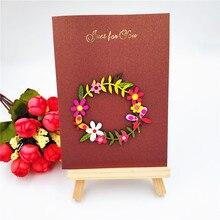Горячие продажи Цветочный Венок Металлические Штанцевые формы Трафареты для Скрапбукинга DIY