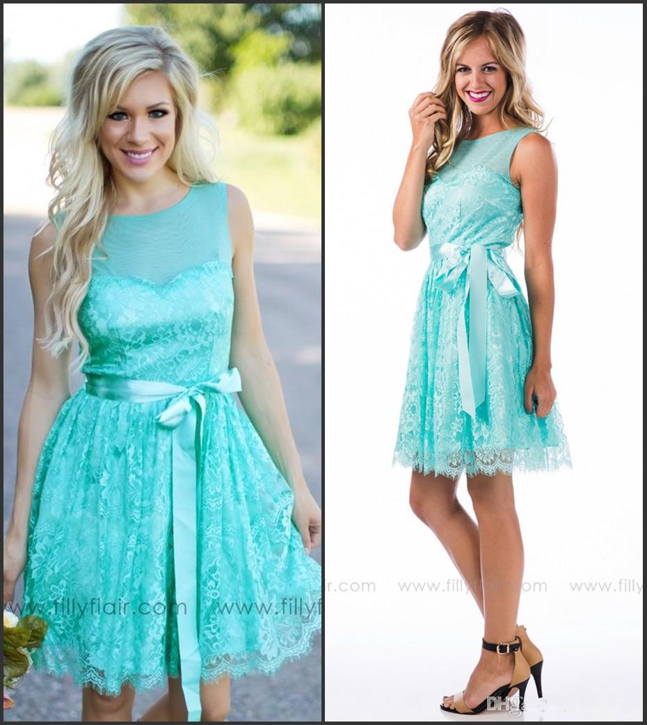 Country Bridesmaid Dresses Turquoise Short | Dress images