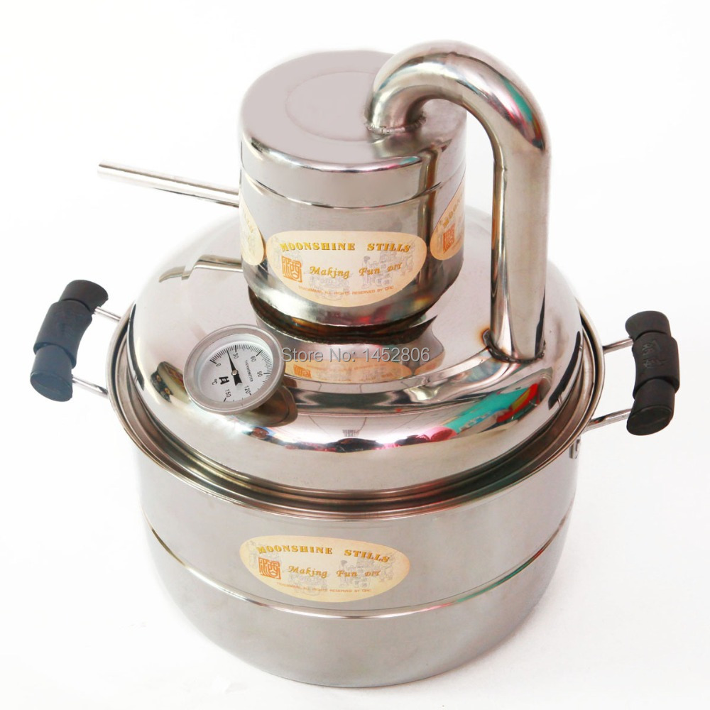 New Home DIY 2 GaL 10L Stainless Steel Alcohol Elcohol Distiller Moonshine Still Brew Kit Wine Making Evaporator Pump