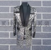 Personality Men Suits Designs Masculino Homme Terno Stage Costumes For Singers Men Sequin Blazer Dance Clothes Jacket Dress Grey