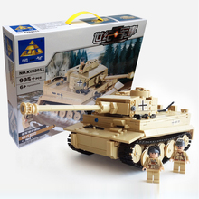 2016 New 995pcs Century Military German King Tiger Tank Cannon Building Blocks Bricks Model Sets Kids Toys Compatible with legoe