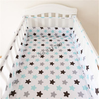 2pcs 3D Breathable Cotton Prevent Falling Crib Bumpers Baby Safety Fence For Bedding Beds For Newborn