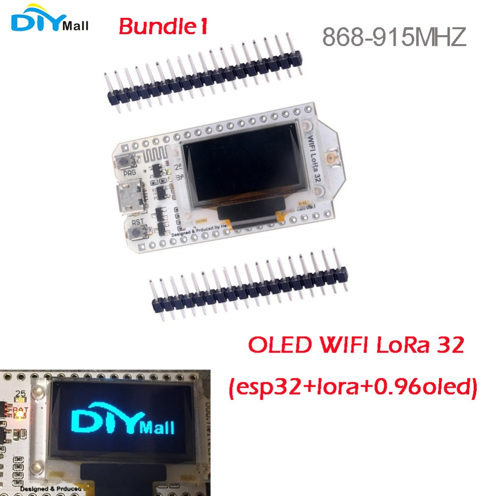 0.96 OLED Display ESP32 WIFI Bluetooth Lora Development Board Transceiver SX1276 868MHz 915MHz IOT with Antenna FZ2886+FZ2891 rcmall 2 sets lot lora32u4 ii lora development board module lipo atmega328 sx1276 hpd13 868mhz with antenna fz2863 2 diy0050 2