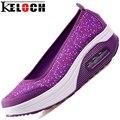 Keloch Женщин Повседневная Обувь Прохладное Лето Женщина Удобные Дышащие Лифт Обувь Высота Увеличение Zapatos Mujer