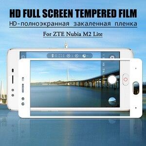 Image 5 - Tam ekran cam için ZTE Nubia Z17 Lite temperli cam Nubia M2 V18 Z18 Mini Z17 Mini S ekran koruyucu koruyucu Film