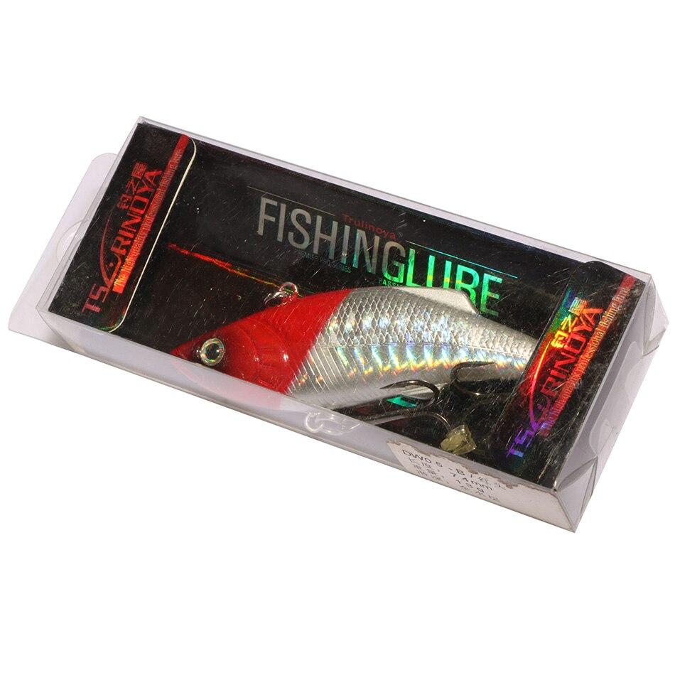 2 Pieces/lot 100% Trulinoya Brand DW05 Fishing Lure VIB 74mm 13g Deep Sea Hard Bait For Fishing