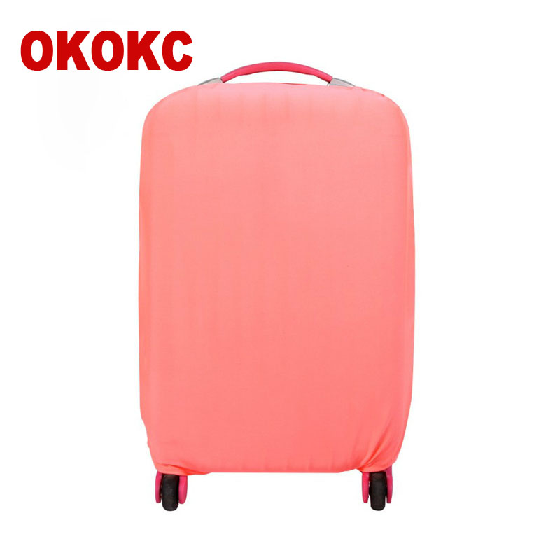 OKOKC Pink Suitcase Protective Trunk Covers Apply To 18~30 Inch Case Elastic Travel Luggage Cover Stretch Trolley Dust Cover
