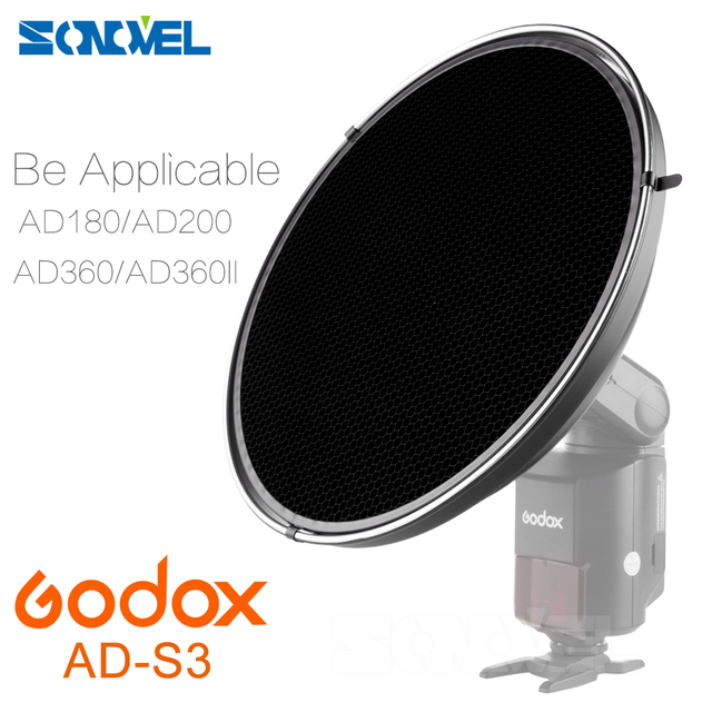 Godox AD-S3 Beauty Dish With Honeycomb Grid Light Soft Cloth For WITSTRO AD180 AD360 AD360II AD200 Speedlite Light Flash Studio