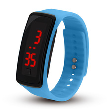 Delicate Sports Watches Digital Rubber LED Luminous Watch Children's Date Sports Bracelet Digital Wrist Watch