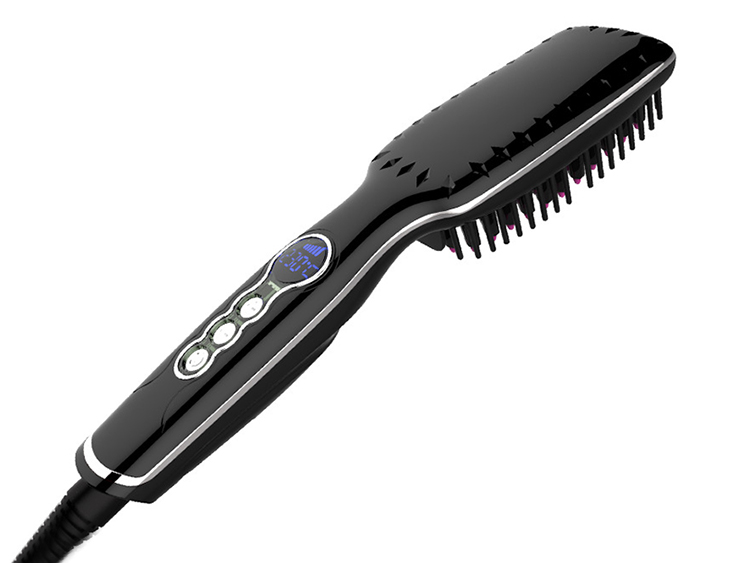 font b Digital b font Hair font b Straightener b font Brush Detangling Straightening Iron