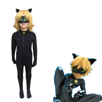 Cat Noir Cosplay Costumes Miraculous Ladybug Jumpsuit Wig For PURIM Child Adrien Marinette Superhero Cosplay