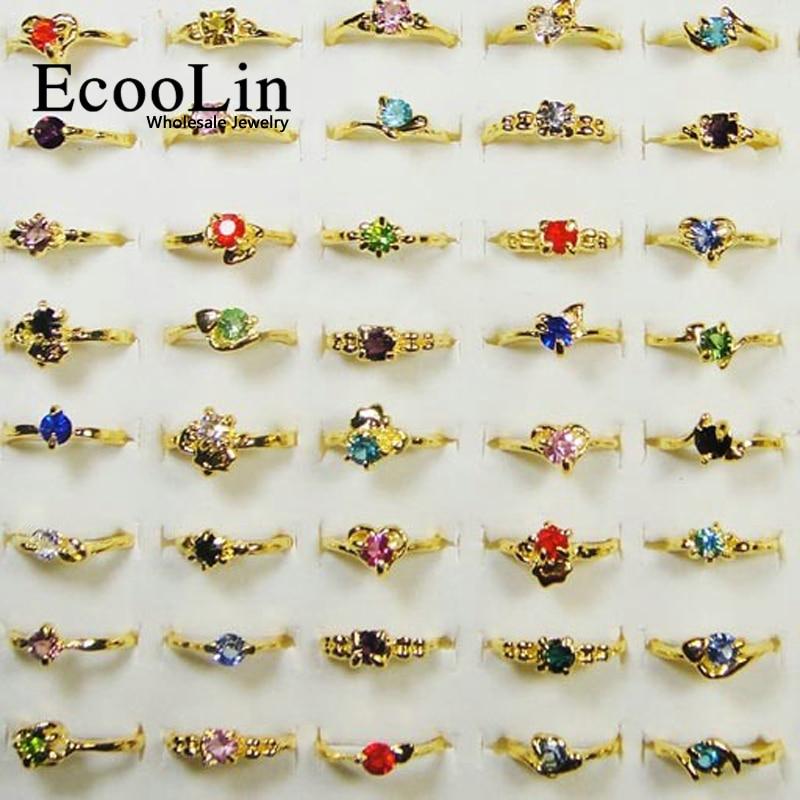 500 pcs 도매 많은 보석 반지 여성 반지 라인 석 골드 반지 새로운 무료 배송 rl119-에서반지부터 쥬얼리 및 액세서리 의  그룹 1