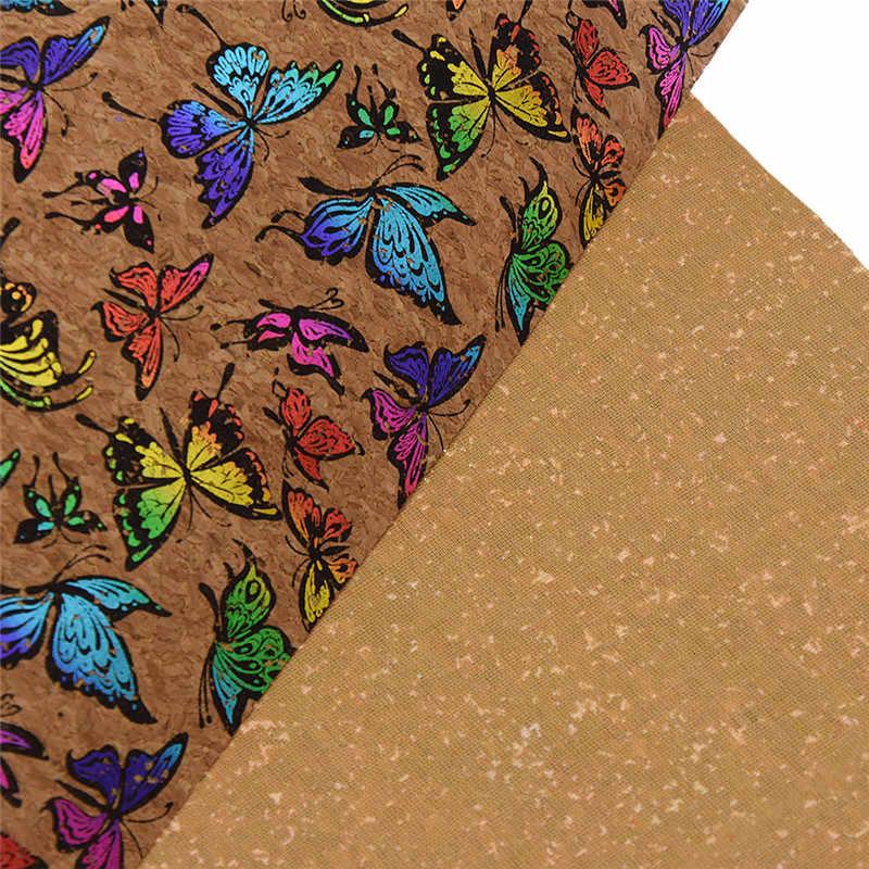 Cô Yêu Nhiều Màu Sắc A3 Mềm Nút Chai Vải 42x30cm Họa Tiết Bướm Chất Liệu Vải May Quần Áo Tự May chất Liệu dày Dặn