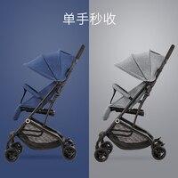 0 3 лет детская коляска ультра легкая одна рука вторая складка может сидеть лежащий на самолете детская коляска с козырьком