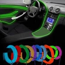 HAMBODER 2M Neon Light Dance Party Decor Car LED Flexible Wire Rope Tube Strip Tube June1 Drop Shipping(China)