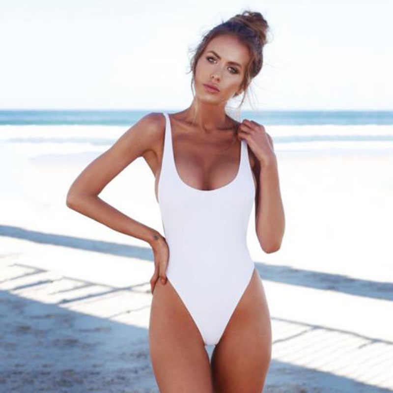 2ca3be45b7a8 ... Rhyme Lady New Solid Swimsuit Female Brazilian Monokini Push Up swimwear  wire free swimsuit Biquini ...