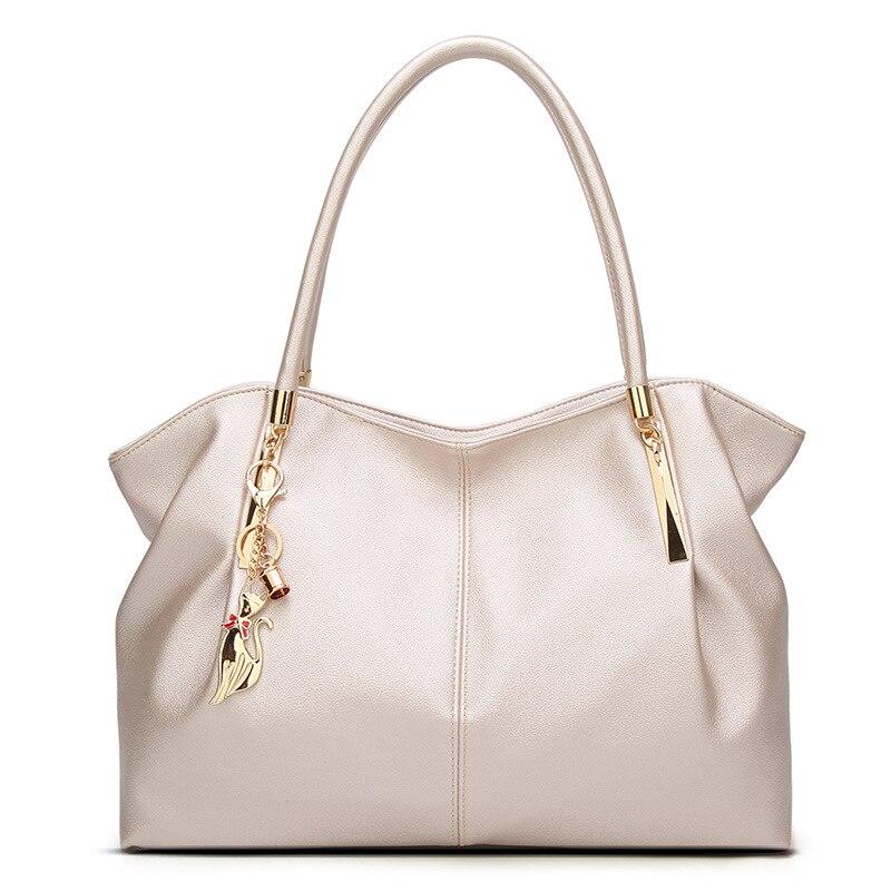 2018 PU Leather Bag Women's shoulder bag designer Luxury Lady Tote Zipper Bag for Large Capacity Women's legends pu leather zipper metal tote bag