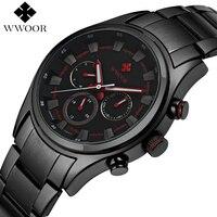 Top Brand Luxury Men Sports Watches Men's Quartz 24 Hours Date Clock Male Waterproof Black Stainless Steel Military Wrist Watch