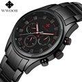 Top marca de lujo hombres relojes deportivos hombres de cuarzo 24 horas fecha reloj impermeable militar de acero inoxidable negro muñeca reloj