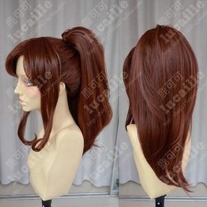 Image 3 - Sailor Moon Sailor Jupiter Kino Makoto Short Brown Ponytail Hair Heat Resistant Cosplay Costume Wig + Cap