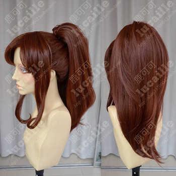 Sailor Moon Sailor Jupiter Kino Makoto Short Brown Ponytail Hair Heat Resistant Cosplay Costume Wig + Cap