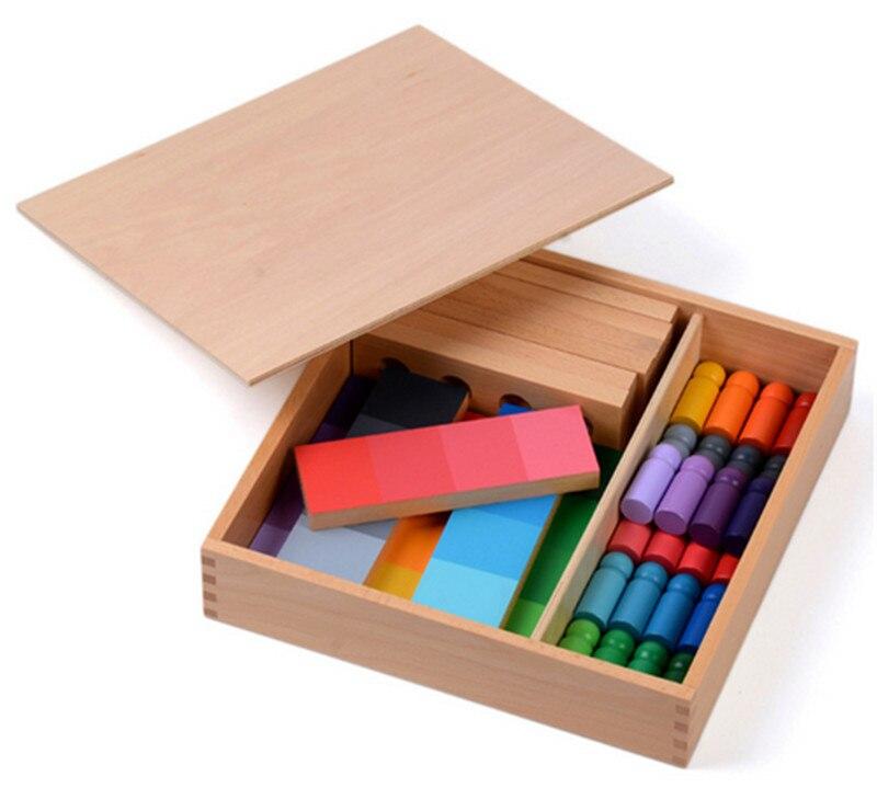 Nouveau jouet en bois pour bébé Montessori 24 pièces couleur ressemblance tri tâche bois petite enfance préscolaire enfants bébé cadeaux