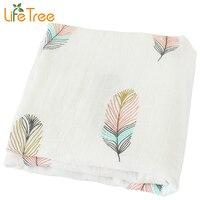 Baby Blanket Breathable Muslin Wrap Newborn Cotton Bamboo Fiber Baby Swaddle Bear Pattern Multifunction Muslin Bedding