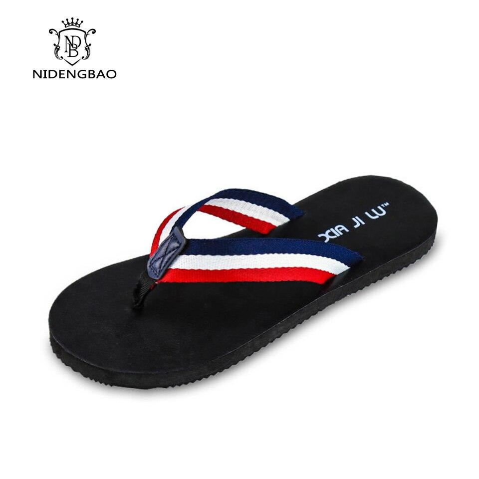 2017 British style Flat Flip Flops Men Flip-flops Mens Slippers Casual Summer Shoes Fashion Beach Men's Sandals Flip Flops сланцы popular summer flip flops
