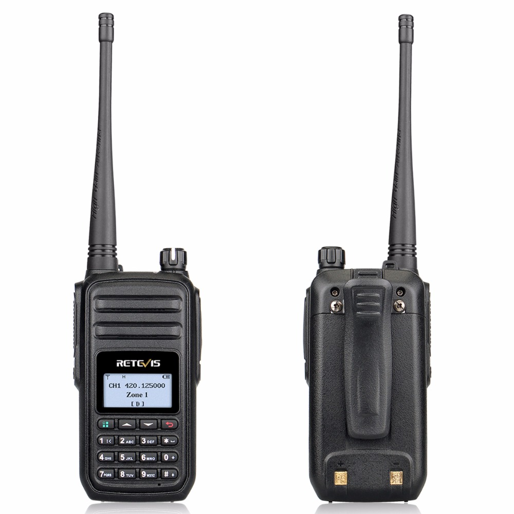 Image 2 - RETEVIS RT80 Ham Radio DMR Digital Walkie Talkie 5W UHF VOX FM Radio Portable Two Way Radio Amador Analog/Digital Transceiver-in Walkie Talkie from Cellphones & Telecommunications