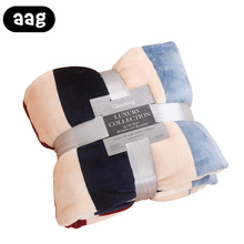 AAG Flannel Blanket Home Textile Thickening Soft Fleece Decor Bedding for Bed Sofa Air Cover Sheet