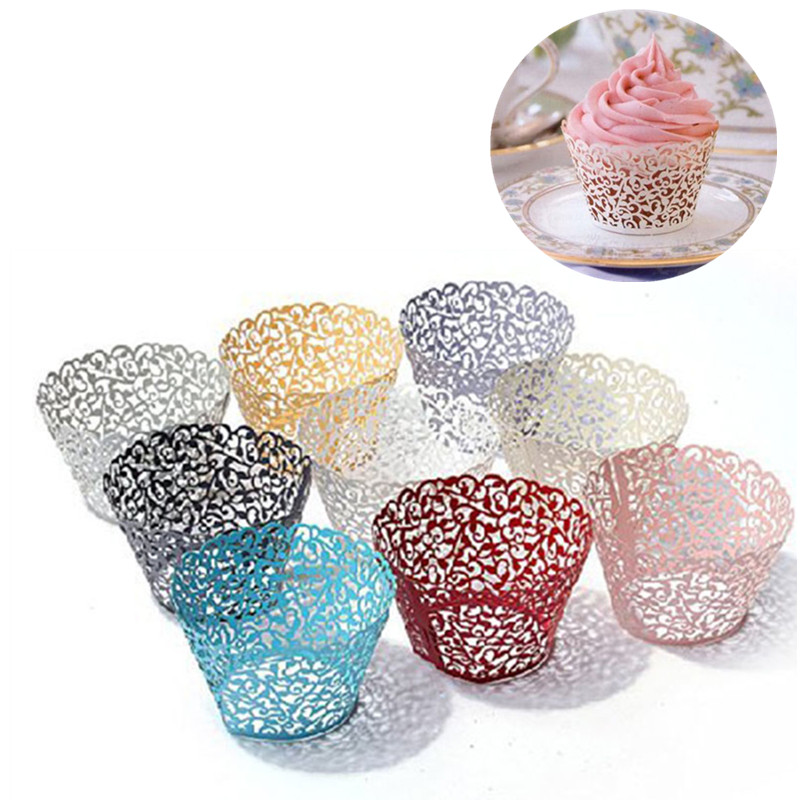 Trimming Shop Cupcake Wrappers Cases Vine Lace Holder For Wedding