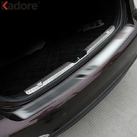 2PCS SET Interior Car Rear Bumper Protector Sill Cover Trim Stainless Steel Auto Parts Fit For