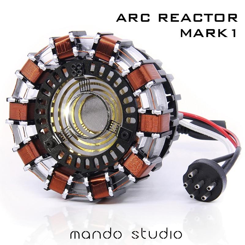 1 1 SCALE IRON MAN ARC REACTOR MK1 With LED Light Tony Stark Heart Assembled Model