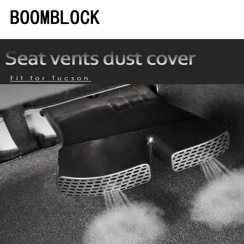 2pc Auto Car Under Seat Back Air Outlet Protective Covers