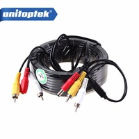 Security 15m CCTV Camera Video Audio AV Power Cable From Amay86