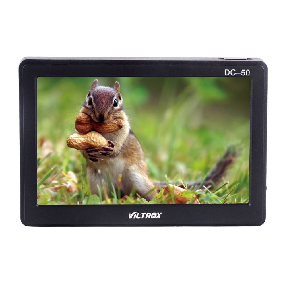 Portable Viltrox DC-50 Clip-on Camera Monitor 5 TFT LCD Monitor with HDMI Video Input for Canon Nikon Sony DSRL Cameras DV