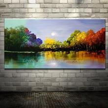 Arthyx ручная роспись пейзаж четыре сезона деревья картина маслом на холсте Настенный декор художественные картины картина для украшения дома