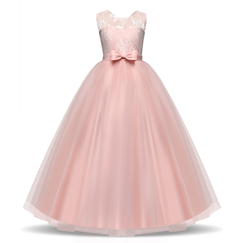 Teenage Girl Long Formal Evening Party Prom Gown Princess Dress Flower Girl christening Dresses Children Clothes Kids Vestidos stms16 50 smc double cylinder air cylinder pneumatic component air tools stms series