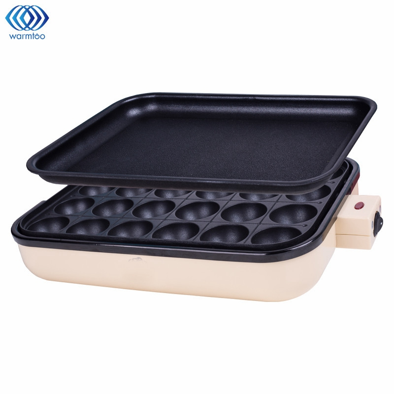 Takoyaki Grill Pan Plate 24 Holes Cooking Octopus Balls Maker Meat Roast Baking Tools Mold Kitchen Cooking Tools Cookware 2 In 1 84 balls fried octopus dumplings grill machine japanese yakitori takoyaki gas griddle cooking octopus ball