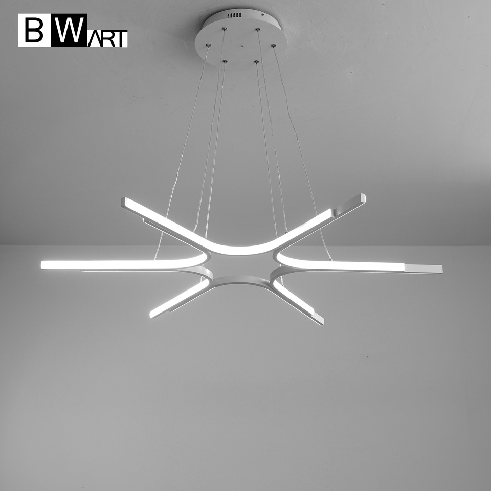 BWART Modern LED chandeliers Luxury Aluminum Pendant chandelier Lighting lamp for Living Room Bathroom Bedroom office
