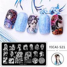 Stamping-Plates Nail-Art-Manicure-Template Image Beauty Chinese-Style Rose Stainless-Steel