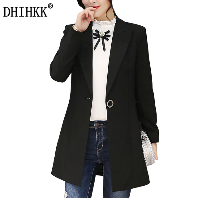 Aliexpress.com : Buy DHIHKK Women Autumn Winter Long Blazer ...