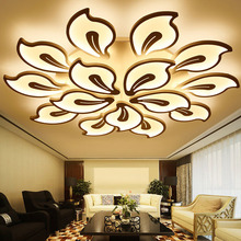 Modern acrylic LED black and white lamp for bedroom living room LED Lustres large chandelier house lighting m led retro industrial iron chandelier diameter 55 82cm classic acrylic lamp shade white and black color for office bedroom etc