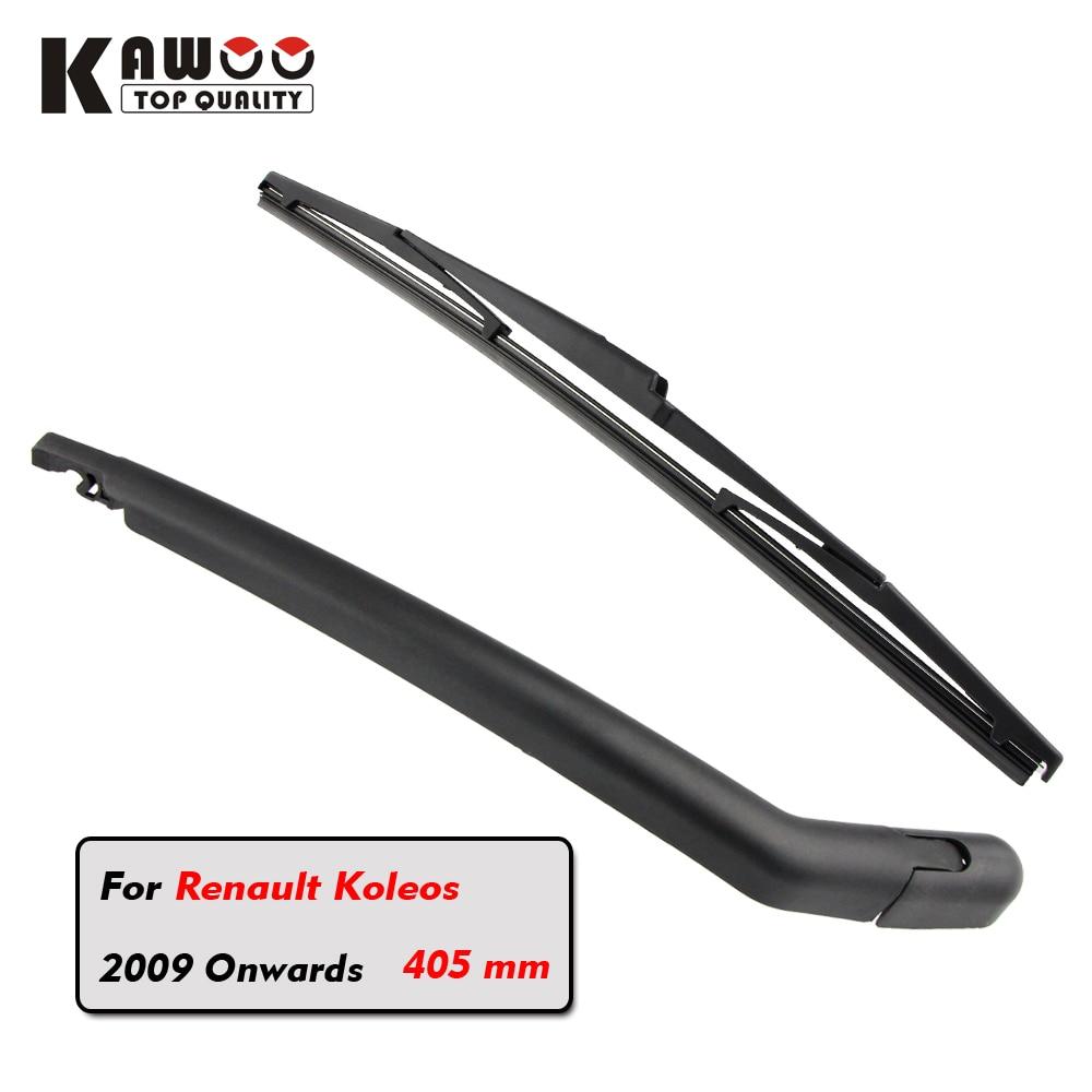 Prix pour KAWOO Voiture arrière lame lames d'essuie-glace arrière essuie-glace bras pour Renault Koleos Hayon (2009 Et Suivantes) 405mm auto Pare-Brise lame