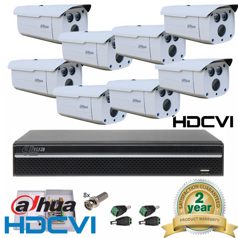 Dahua HD 8Channel 2MP Video CCTV System 8CH Full HD 1080P IR HD CVI/CVR HDCVI DVR System 8PCS 1080P Outdoor Bullet Camera Kit other full hd 1080p sj1000 30 dvr bike surfing outdoor
